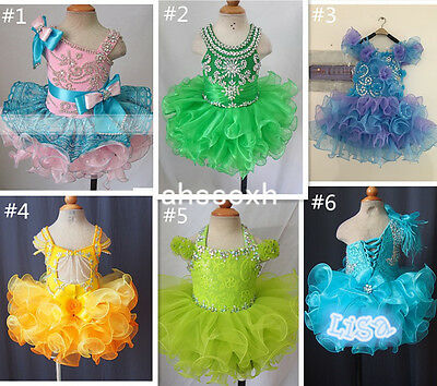 Hot Sale Infant/toddler/baby/children/kids glitz Girl's Pageant Dress size1~7