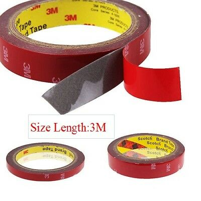 1 Strong Permanent Double Sided Super Self-Adhesive Sticky Tape Roll Adhesive 3m