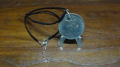 Coin Pendant with Black Necklace Cord - NOT Silver Liberty 1797