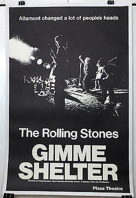 Gimme Shelter -The Rolling Stones- Original American Premiere 1Sht Movie Poster