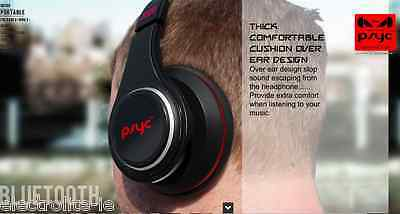 PSYC Wave S1 Bluetooth Wireless Over-ear Cup Headphones With Built-in Microphone