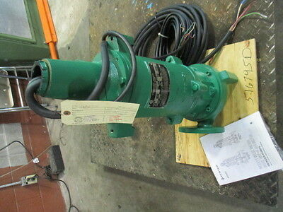 Myers Submersible Sewage Grinder Pump #516745D Mod:wg30H-53 Hp:3 New