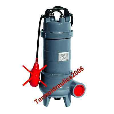 Eau Chargee VORTEX150T Pompe Submersible COMEX 3x400V 1,1kW 1,5Hp solides50mm