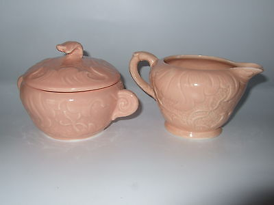SylvaC Cream and Sugar set, Mold #1698 in Pink