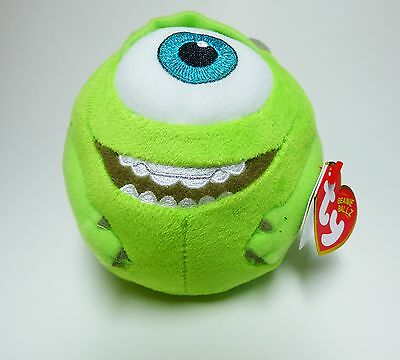 New Ty Beanie Ballz Monsters University Plush Small ~ Mike Green ~ FREE SHIPPING