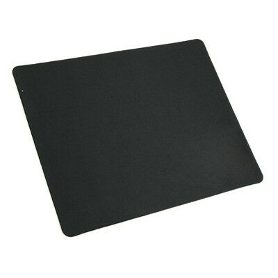 Black Slim Square Mat Mousepad For PC Optical Laser Mouse Trackball Mice DT