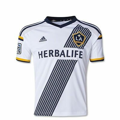 Adidas LA Galaxy 2014 Home Climacool Jersey Blue White Size L Licensed Product