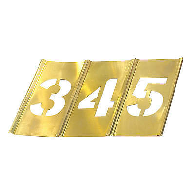 CH HANSON Stencil Set, Numbers, Brass NEW FREE SHIPPING &7C