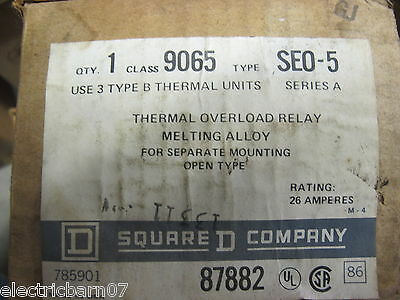 Square D 9065 SEO-5, Thermal Overload Relay,NEW