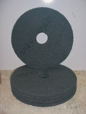 "FLOOR BUFFING/BUFFER STRIPPER PADS, 17"" BLACK 7200, 175-600 RPM'S 3M 5 Count"
