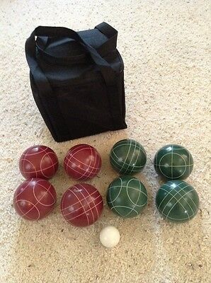 Trademark Innovations Bocce Ball Set, 9 Resin Balls, Black Carrying Case, NEW