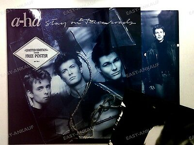 a-ha - Stay On These Roads UK & Europe LP 1988 + Innerbag, poster //11