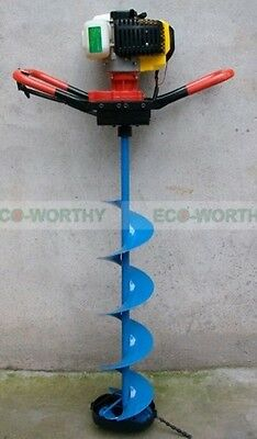"""New 2.2 HP Gas Powered Post Hole Digger W/ 6/8/10"""" Drill Bit Only  Use for Ice"""