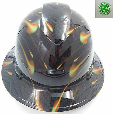 New Custom PYRAMEX(Full Brim) Hard Hat HONEYCOMB CARBON  FREE SAFETY GLASSES