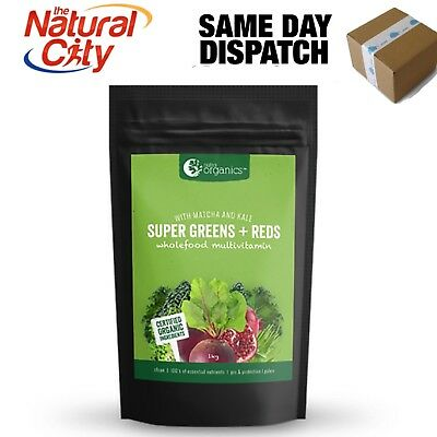 Nutra Organics Super Greens and Reds 1kg with Matcha- Vital Greens