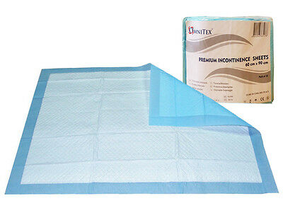 50x Omnitex Disposable Incontinence Bed pads 60 x 90cm - With SAP, 1000ml Absorb