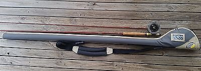 9ft ABU Feralite 8910 Fly Fishing Rod & Rear Diaiwa 254 Fly Reel With Carry Case