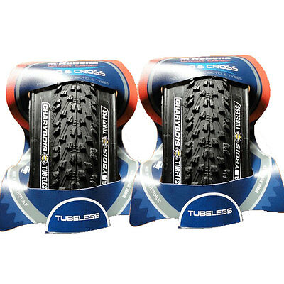 Pair of Tubeless Mountain Bike 26 x 2.0 Inch Tyres UST