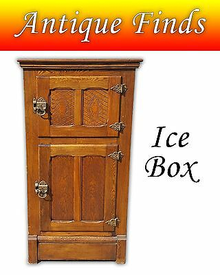 Antique Victorian Style Oak Ice Box