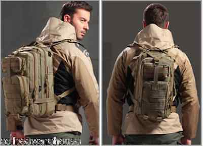 30L Outdoor Hiking Camping Bag Army Military Tactical Trekking Rucksack Backpack
