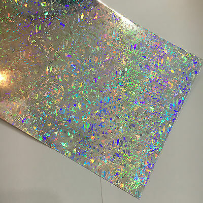 """24"""" X 24"""" - Silver Crystal Holographic Craft & Hobby Cutting Vinyl Film"""