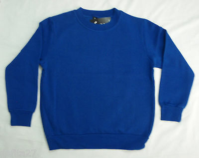 Kids School Jumpers Royal Blue Boys Girls Unisex Fleece Size 8,10 Brand New!!!