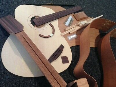 DIY Guitar Kit - Acoustic Guitar Kit – Luthier Kit – Mahogany/Spruce – Dreadn...