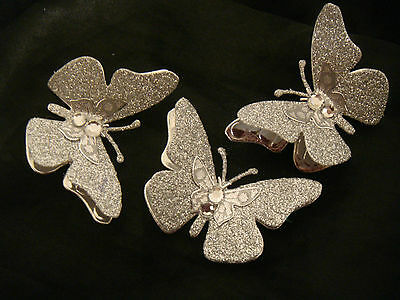 3 glitter butterfly wedding birthday cake decorations add to your ribbon