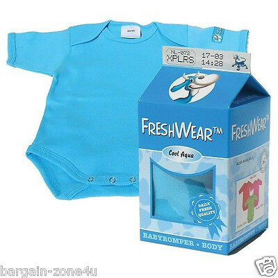 Freshwear Newborn Baby Blue Boys Romper Underwear Vest Christening Party Birth