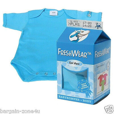 Freshwear Newborn Baby Blue Boys Romper Underwear Vest Clothes tops