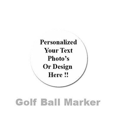 Personalized Custom Your Logo Design Photo Text Golf Ball Marker Free Shipping