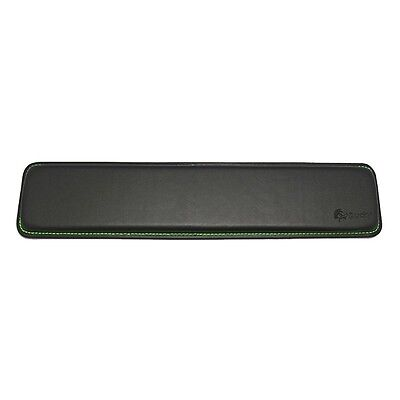 Ducky Wrist Rest Real Leather 440 x 95x 20mm Black/Green