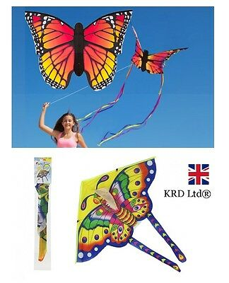BUTTERFLY Flying Kite Childrens Kids Line Kites Outdoor Park Beach Fun Toy
