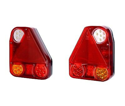 Pair 24V 12V Led Rear Tail Lights Trailer Truck Lorry Camper Motorhome Tractor