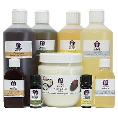 Massage Oil - Choose cold pressed carrier oil Grapeseed or Sweet Almond Oil