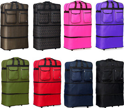 "40"" XXL Expandable Rolling Duffel Bag Wheeled Spinner Suitcase Luggage"