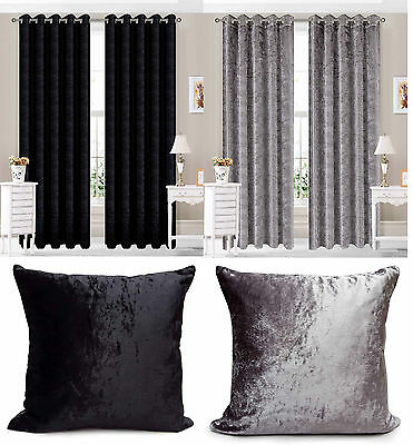 Eyelet Ring Top Velvet Ready Made fully Lined Designer Curtains