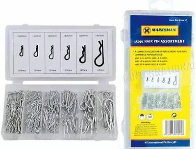 New 150 Pc Hair Pin Assortment R Clips Hitch Lynch Cotter Case Retaining Car Van