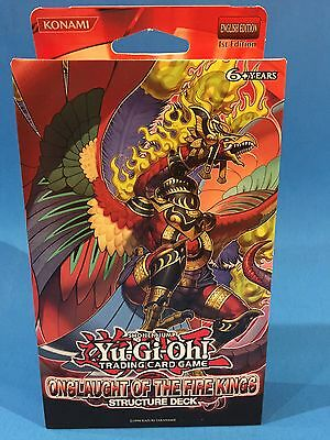 ONSLAUGHT OF THE FIRE KINGS - Structure Deck - 1st - Sealed & New - Yu-Gi-Oh