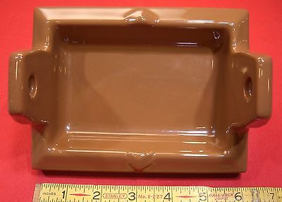 "Vintage...Ceamic Brown Recessed…toilet paper holder by The Fairfacts Co. ""NOS"""