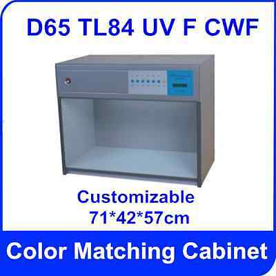 Color Matching Cabinet 5 light sources: D65 TL84 UV F CWF American Standard 110V
