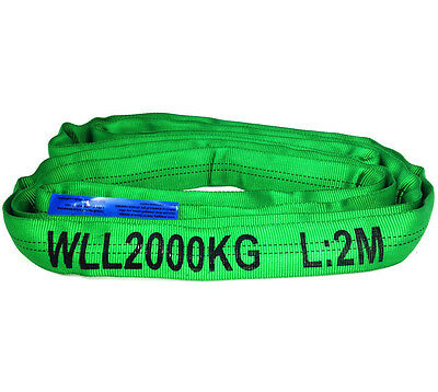 2T Round Lifting Sling Various Sizes 100% Polyester Comes With Test Certificate
