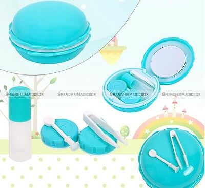 Macaron Model Contact Lens Case Travel Kit Easy Carry Mirror Container Box