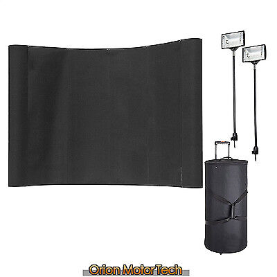 10FT Exhibit Stand Pop Up Display with Spotlights Portable Trade Show Booth