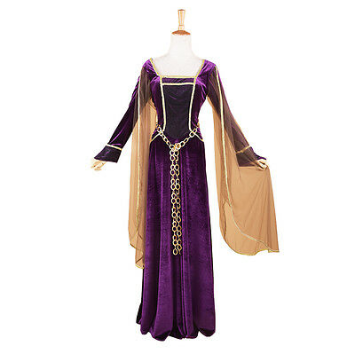 Adult Women Deluxe Renaissance Guinevere Queen Costume Medieval Gown Fancy Dress
