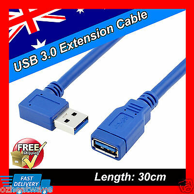 30cm USB 3.0 SuperSpeed Type A Male to Female Joiner Extender Extension Cable