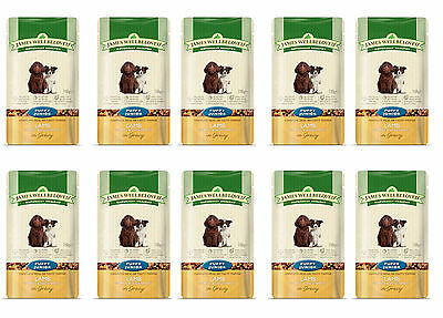 James Wellbeloved Dog Pouch Food 150g Puppy Lamb Bulk Buy Of 10