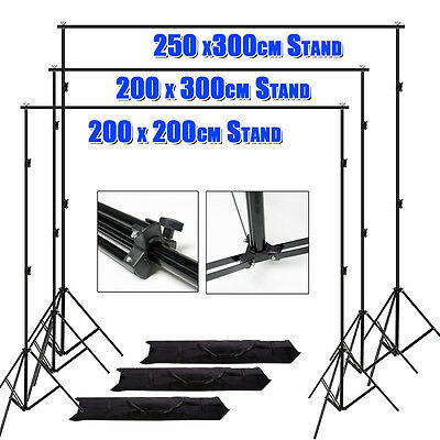 Photography Studio Heavy Duty Backdrop Stand Muslin Background Support Stand Kit