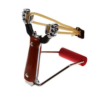 Powerful Aluminium Hunters Hunting Slingshot Wrist Support Catapult Camping Game