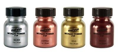 Mehron Metallic Powder Face Body Paint Theatrical Mime Special Effects